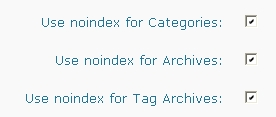 Use noindex